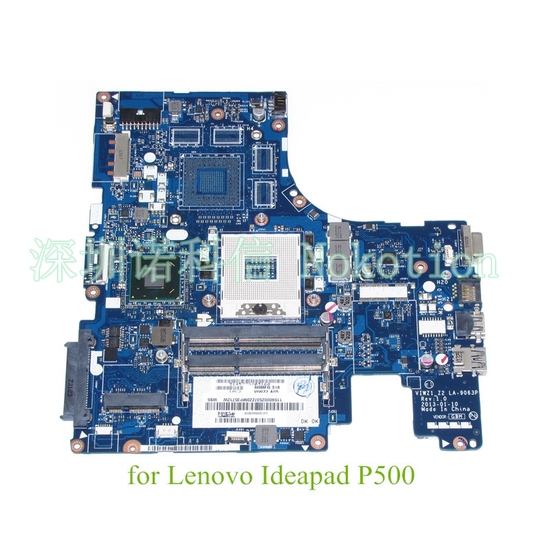 NOKOTION Laptop motherboard For lenovo ideapad Z500 P500 15.6 inch HD4000 DDR3 11S90002537 VIWZ1 Z2 LA-9063P Mainboard brand new for lenovo b470 laptop motherboard 48 4kz01 021 mainboard