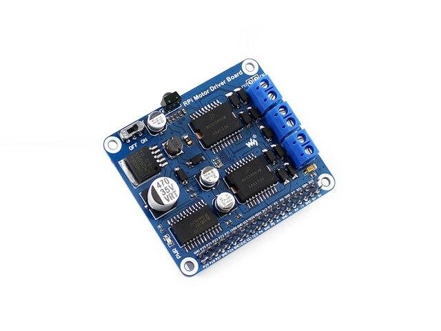 Waveshare Raspberry Pi RPi Доска Водитель Мотора +/B +/2B/3B Расширение Двигатель ПОСТОЯННОГО ТОКА Доска для DIY Мобильный Робот/Драйвер Шагового Двигателя