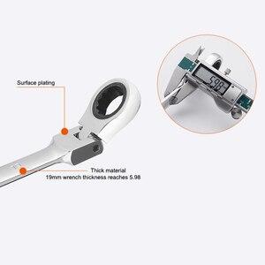 Image 3 - クロームバナジウム鋼可動ラチェットレンチ柔軟な開放端レンチトルクレンチ耐久性のある修理ツール抱擁 セール