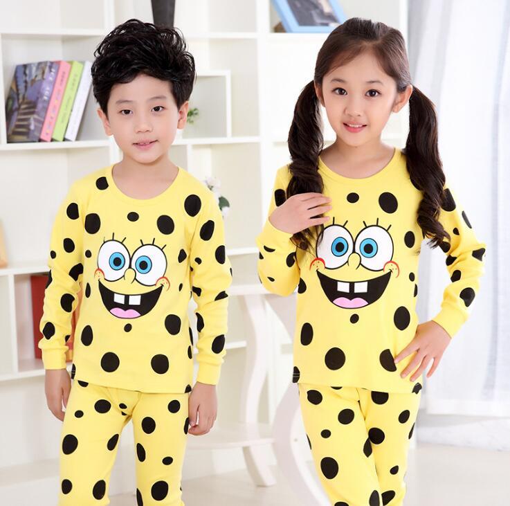 2 Pcs Kids Pijama Sleepwear Boys Girls Pyjamas 100% Cotton Pajamas Underwears Autumn Spring Clothing Set For 4 6 8 10 12 Years