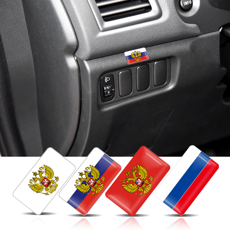 20Pcs Car styling Russian Federation National Emblem Coat of Arms of Russia Eagle Stickers Car Decoration motorcycle DIY Decals-in Car Stickers from Automobiles & Motorcycles