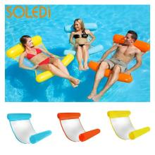 Unisex Floating Bed Lounge Folded Waterbed Beach Floating Chair Adults 200kg Water Hammock Pool Fun Floating Toys Drop Shipping