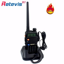 Handy Walkie Talkie Retevis RT-5R 5W VHF UHF Two Way Radio Long Range Portable Radio Set Ham Radio Communicator Transceiver RU