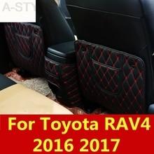 Для Toyota RAV4 RAV 4 сидений уход за задним сиденьем протектор заднего сиденья анти-Kick Pad чехол для сиденья Автомобильный интерьер модифицированный