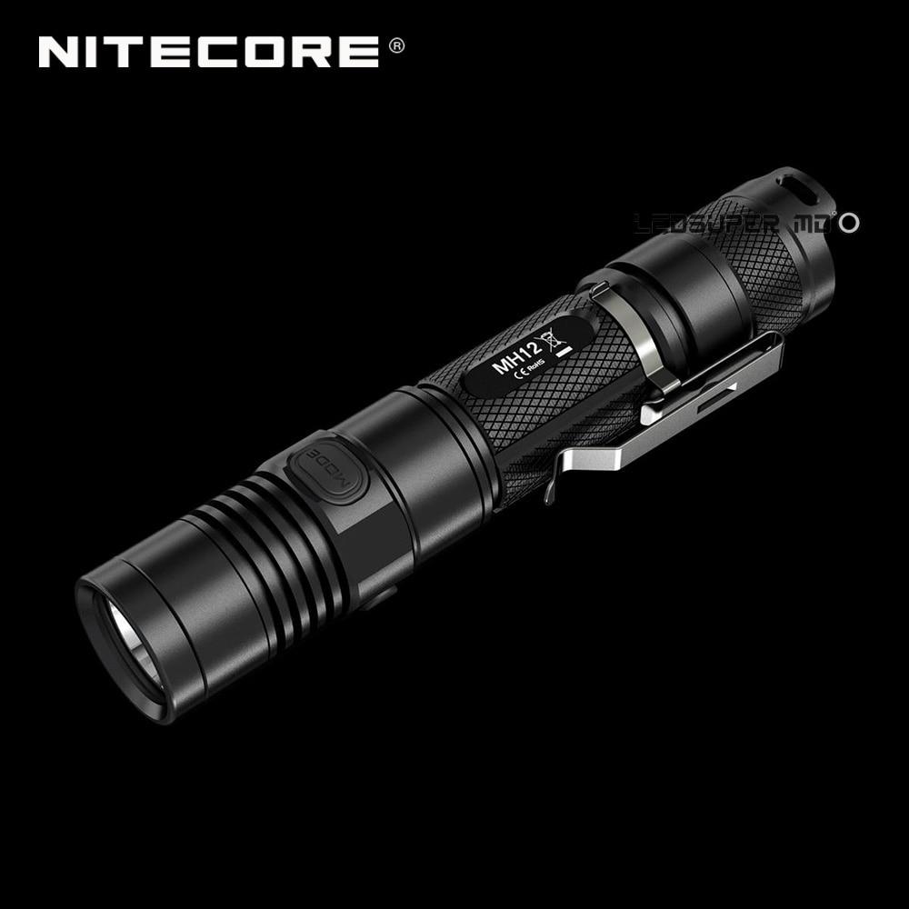 Factory Price Nitecore MH12 1000 Lumens XML2 U2 LED Rechargeable Micro USB Flashlight 18650 with 3200 mAh Battery