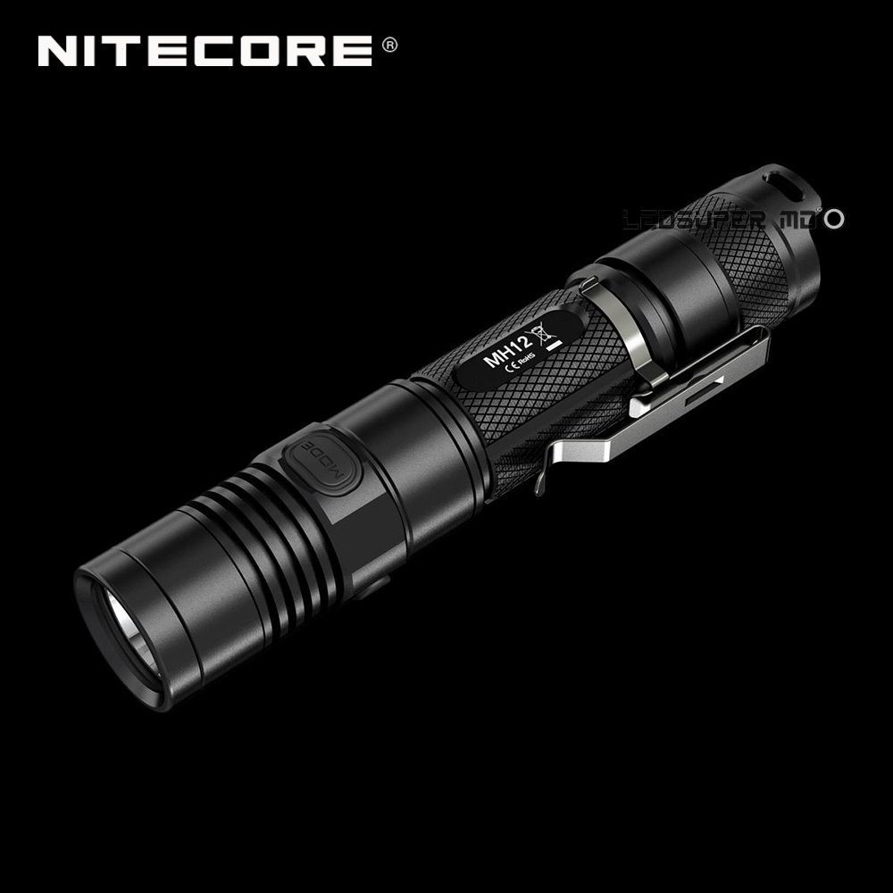 Prix usine Nitecore MH12 1000 Lumens XML2 U2 LED Rechargeable Micro USB lampe de Poche 18650 avec 3200 mAh Batterie