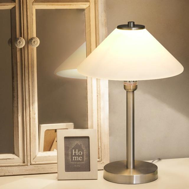 Einfache moderne tisch licht schlafzimmer nacht lampe glas dekoration kleine nacht lampe warme tisch lampen Z123633