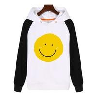 Cartoon Yellow Smile Face Expression Hoodies Sweatshirt Streetwear Hoodie Clothing Tracksuit Sportswear AN388