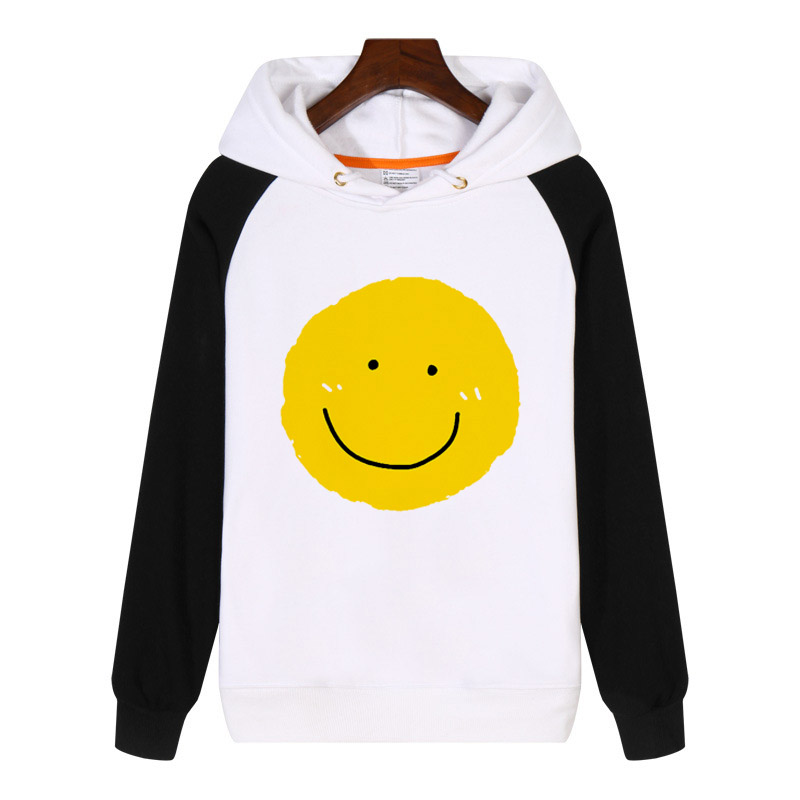 Cartoon Yellow Smile Face Expression Hoodies Sweatshirt Streetwear Hoodie Clothing Tracksuit Sportswear AN388