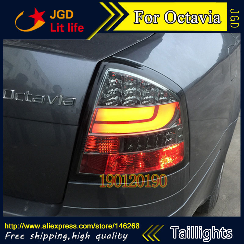 tail lights for Skoda Octavia 2007-2009 LED taillight Tail Lamp rear trunk lamp cover drl+signal+brake+reverse auto lighting style led tail lamp for toyota new corolla tail lights 2014 altis drl rear trunk lamp cover signal brake reverse