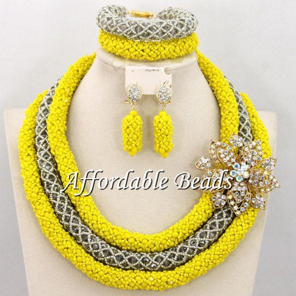 Rare Indian Jewelry Wedding Set Charming Nigerian Bead Set New
