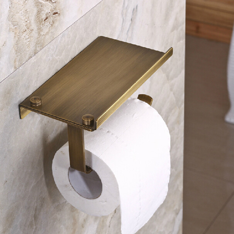Free Shipping Bathroom Toilet Tissue Paper Roll Holder Brass Antique Wall Mounted Toilet Paper Rack free shipping antique brass creative wall mounted flower carved bathroom brass toilet paper holder tissue roll with soap dishes