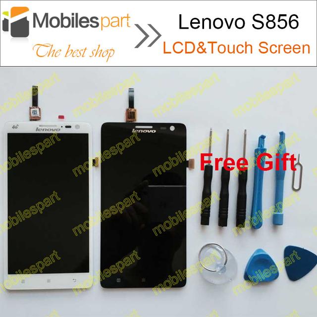 Lenovo s856 display lcd + touch screen + ferramentas 100% tela de substituição original para lenovo s856 smartphone em estoque frete grátis