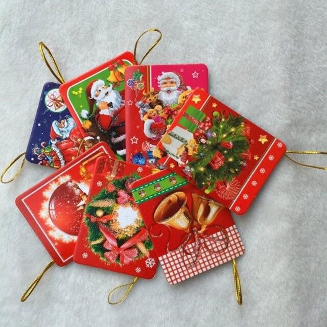 creative mini christmas card hanging christmas tree wishing card