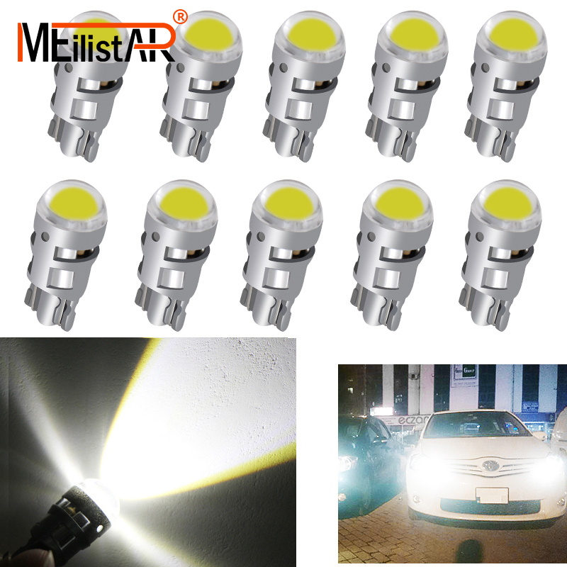 цена на 10pcs Signal Lamp T10 Led Car Bulb W5W 194 168 Led T10 Led Lamps For Cars White 5W5 Clearance Backup Reverse Light 12V