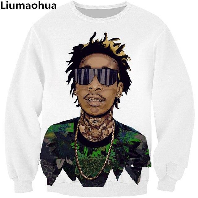 Liumaohua Nuevo estilo de La Moda Sudaderas Hip hop Rapper cantante Wiz  Khalifa 2pac Tupac. Sitúa el cursor encima para ... cc8ed3414ff