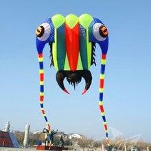 Высокое качество 10sqm трилобиты Большая мягкая управляющая перекладина воздушного змея нейлоновая ткань Рипстоп инопланетянин надувной змей Дракон змей птица