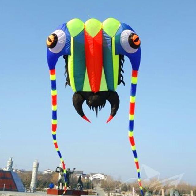 Envío de la alta calidad $ number m ² trilobites gran barra de la cometa suave tela ripstop nylon extranjero inflable dragón cometa kite bird