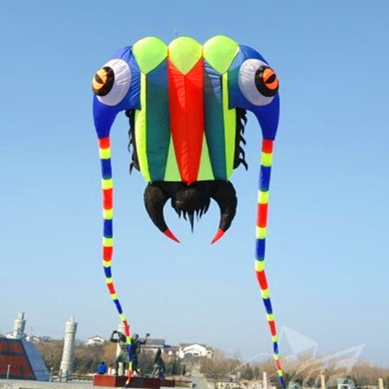free shipping high quality 10sqm trilobites large soft kite bar nylon ripstop fabric alien inflatable kite dragon kite bird цена 2017
