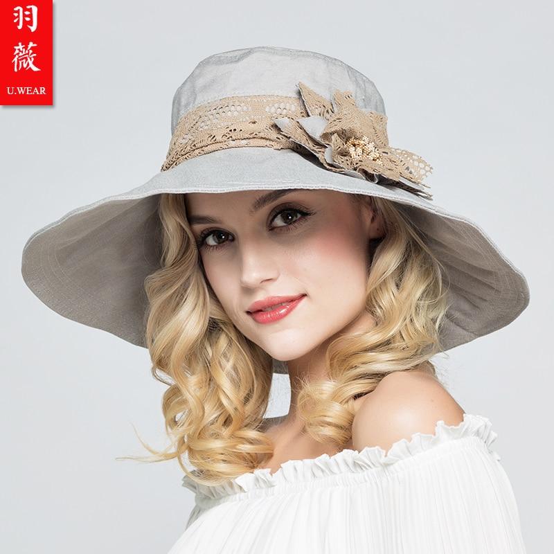 MAILE Straw Hat Large Brim Hand-Made Bowknot Sun Hat Summer Beach Cap Big Foldable Fedora Hats for Womens Girls Khaki