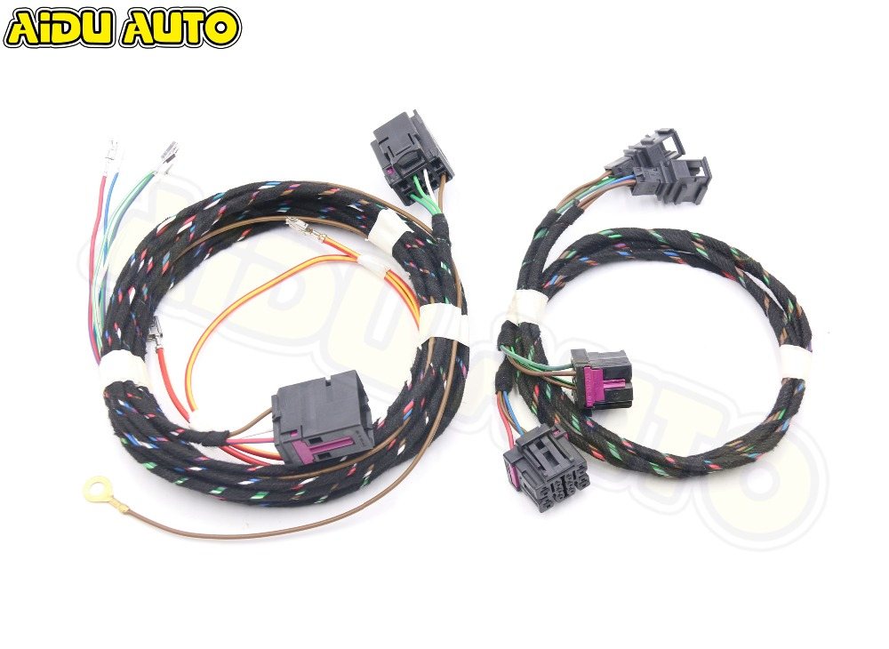 For VW Golf 7 MK7 Passat B8 Front heating seat ( left&right ) Upgrade Adapter Cable Wiring Harness cables lane assist lane keeping system wire cable harness for vw golf 7 mk7 passat b8 mqb cars