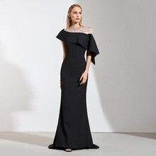 ชุดราตรีสีดำ Tanpell ที่กำหนดเอง ชั้นความยาวชุดสตรีค็อกเทลปาร์ตี้