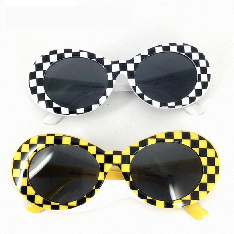 NYWOOH Clout Goggles Glasses Kurt Cobain Sunglasses Men Oval Sun Glasses Female Male Vintage Eyewear Shades For Women