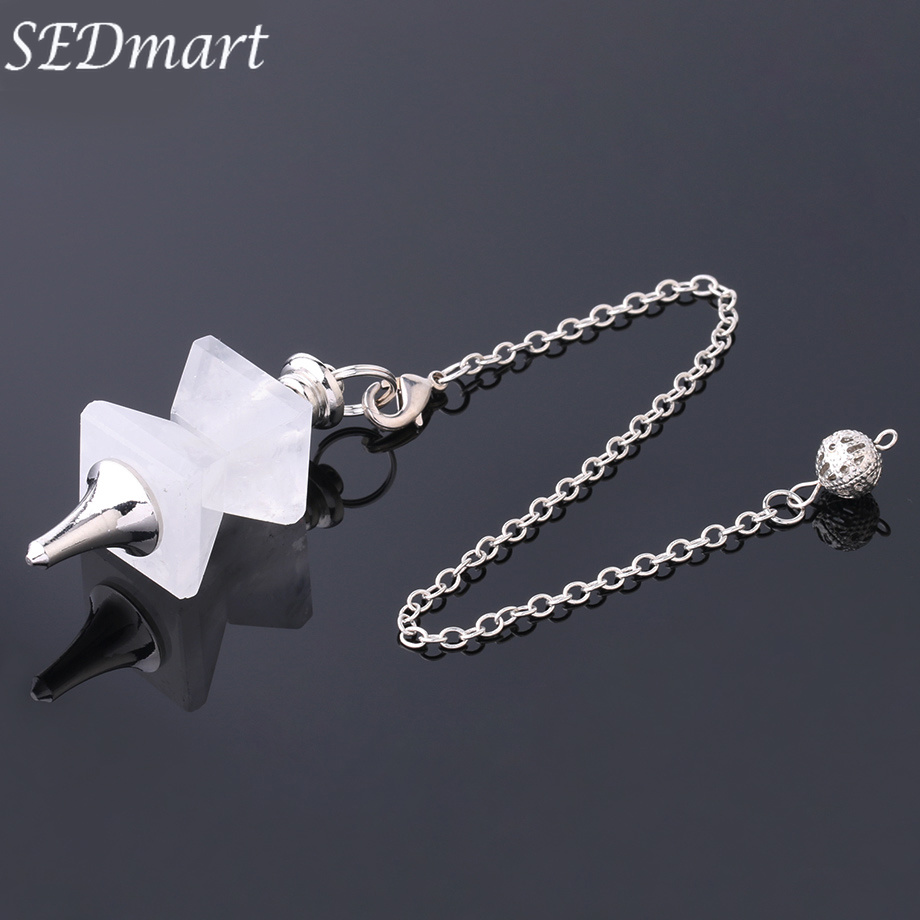 Latest Collection Of Sedmart Natural Stone Swing Dowsing Pendulum Funnel Shaped Symmetry Splice Pyramid Healing Pendant Wicca Pendule For Women Men Fashionable And Attractive Packages Jewelry & Accessories Pendants