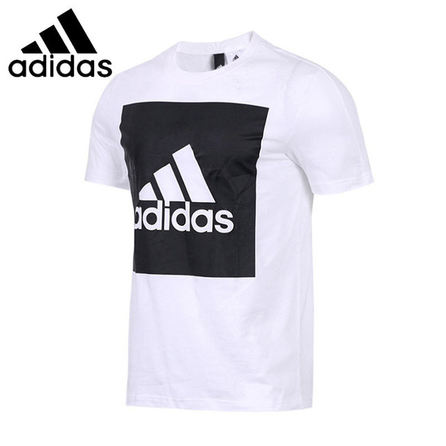 c44959e46 ADIDAS Original 2018 New Arrival Mens Breathable Running T-shirt Short  Sleeve Pattern Printed Cotton tops For Men  B47358