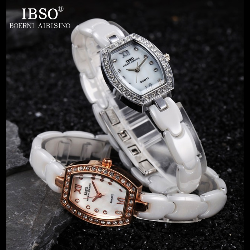 IBSO Brand Luxury Women Watches 2018 High Quality Ceramic Strap Watch Women Fashion Crystal Diamonds Ladies Watches Montre Femme unique design 100% ceramic watches good quality fashion ladies 2 years warranty luxury brand watches