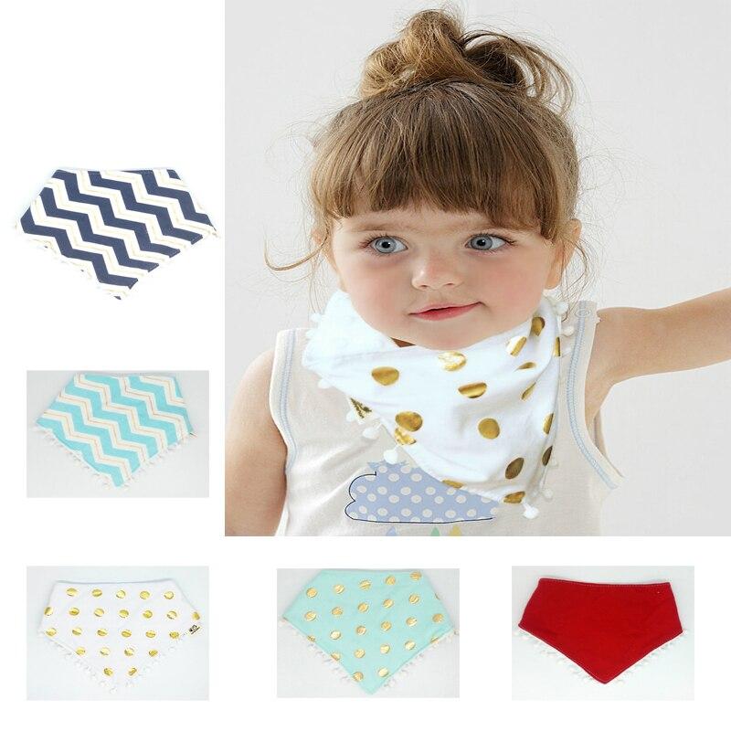 BalleenShiny Newborn Baby Cute Bibs Infant Triangle Tassel Saliva Towel Children Wool Ball Feeding Care Scarft Head Scarf