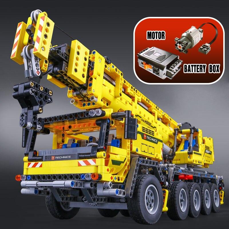 DHL 20004 Technic Motor Power Mobile Crane Mk II ชุดชุด DIY บล็อก AssembleToy อิฐของขวัญเด็ก legoing 42009-ใน บล็อก จาก ของเล่นและงานอดิเรก บน   2