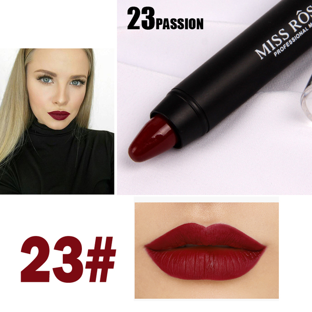 8 Colors MISS ROSE Brand Lipstick Nude Lip Kit Long Lasting Lipgloss Lip Pigment Velvet Lipstick Matte Lip Tint Set Batom Stick 5