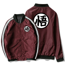 Casual Jacket Men Fashion Dragon Ball Goku Men Jacket Coat Pocket Button Bomber Black Gray Male Jackets Military Chaqueta Hombre