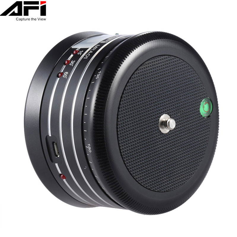AFI MRA01 Mini Electric Panorama 360 Rotation Time Lapse Tripod Ball Head For Phone GoPro Action