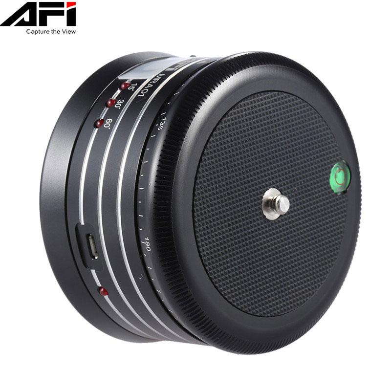 AFI MRA01 Mini Elektrik Panorama 360 Fırlanma Saatı Telefon Üçün Tripod Top Baş GoPro Fəaliyyət Kamera Selfie Stick Panoramic