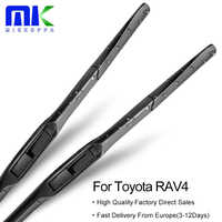 Mikkuppa szyby przedniej hybrydowe pióra wycieraczek dla Toyota RAV4 Fit hak ramiona Model rok od 1994 do 2018