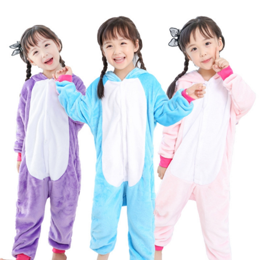 Flannel winter Pegasus christmas animal pajamas for kids cartoon animals Hooded sleepwear onesie cosplay pajamas