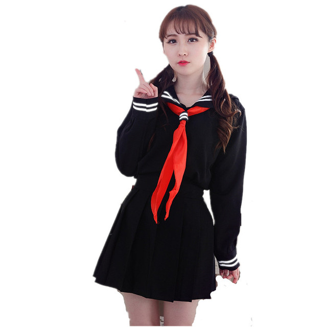 Anime Hell Girl Lady Lolita Cosplay Korean Japanese Navy Sailor School -4140