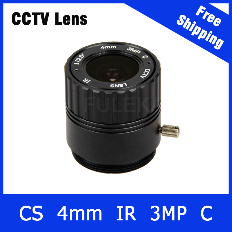 3Megapixel Fixed CS Mount CCTV Camera Lens 4mm For 720P/960P/1080P IP camera and AHD/CVI/TVI Camera Free Shipping free shipping hot sale ptz camera microphone 2014 hot sale 10 pieces lot f1 2 4mm 1 3 cs mount fixed ir cctv camera lens