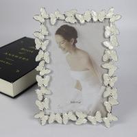 6 인치 프레임 워크 테두리 나비 금속 사진 프레임 웨딩 사진 스튜디오 웨딩 선물