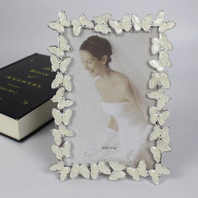 6 inch framework borders butterfly metal photo frame wedding photo ...