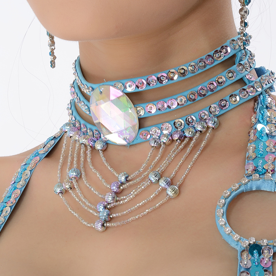 11 Colors Wholesale Jewelry Oriental Dance Costume Accessories Sequins Tassel Necklace Beaded Adjustable Belly Dance Necklace
