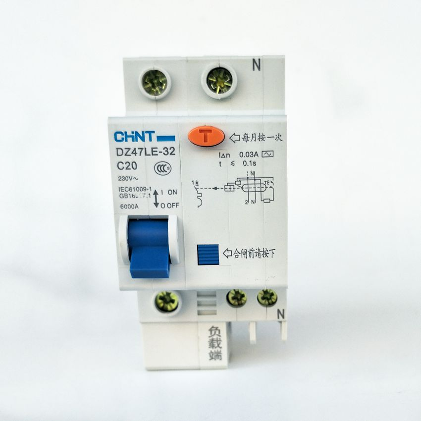 CHINT DZ47LE-32 1P+N C20A 30mA Earth Leakage Circuit Breaker/Residual Current Operated Circuit Breaker free shipping new chint miniature circuit breaker dz267 32 1p n c6 6a home circuit breaker circuit protector switch