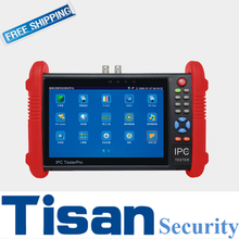 New 7 inch IP and Analog CCTV Tester Monitor for Camera testing with  PoE power output/ HDMI out/ Built-in WIFI