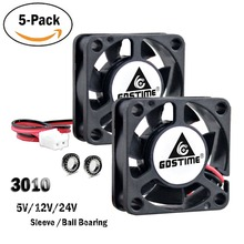 5pcs/set GDT 12v dc exhaust fan for electric products 3cm mini cooler 30x10mm 7 blades
