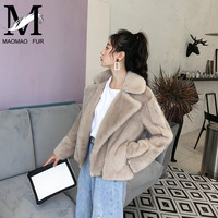 Natural Real Mink Fur Coats Women Luxury Mink Fur Jacket Thick Warm Winter Ladies Genuine Mink Fur Overcoat