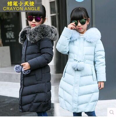 2017 Autumn&Winter Children Down & Parkas Kids Outerwear Thicken Girls White Duck Down Jacket And Long Down Jacket Age 6-16Y vinod kumar sundeep hegde and sham s bhat dental age bone age and chronological age in short stature children