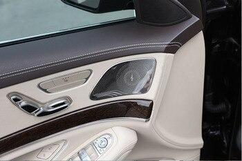 4pcs For Mercedes Benz W222 S Class S300 S320 S350 S400 2014-2018 Stainless Steel Car Door Loud Speaker Cover Trim 2014-2018