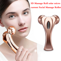 Facial Massage Roller 3D Massage Roll Solar Micro Current Y Shape Massage Roller Body Shaping Tightening